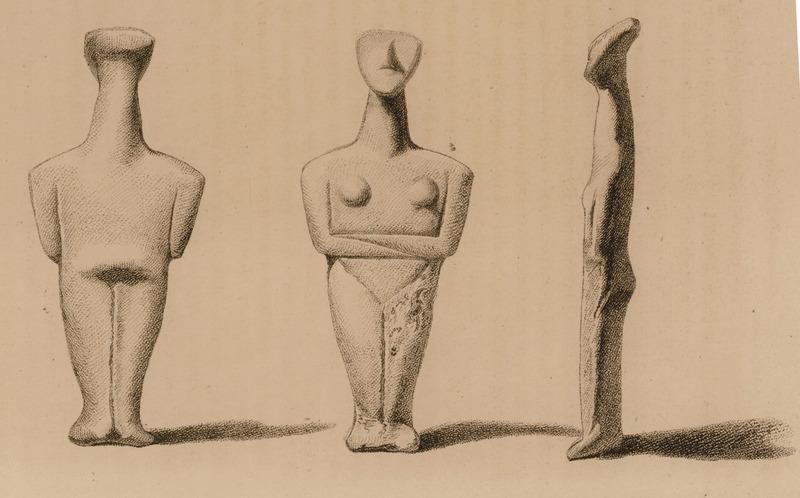 Sigillarium - Kikladska figura. Crtež je deo rukopisa Roberta Valpola (Robert Walpole) iz 1818. godine.