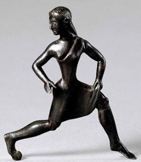 Spartanka, bronzana figura