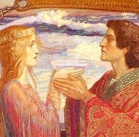 Tristan i Izolda piju napitak