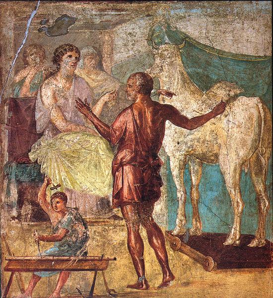 Dedal, Pasifaja i drvena krava