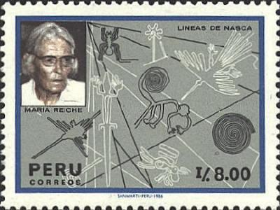 Marija Rajhe i Naska linije, poštanska marka