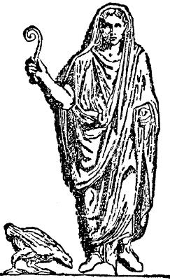 Augur sa lituusom, prikaz iz Nordijske porodicne knjige