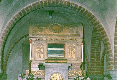 Boetjeova grobnica. Bazilika San Pjetro in Sjel Doro, Pavija, Italija