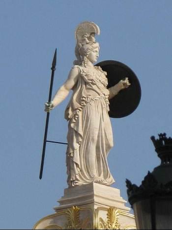 Statua Atine, Atinska Akademija