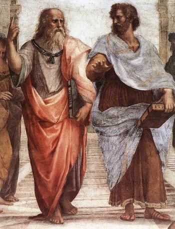 Deo freske Platonova Akademija. Rafael